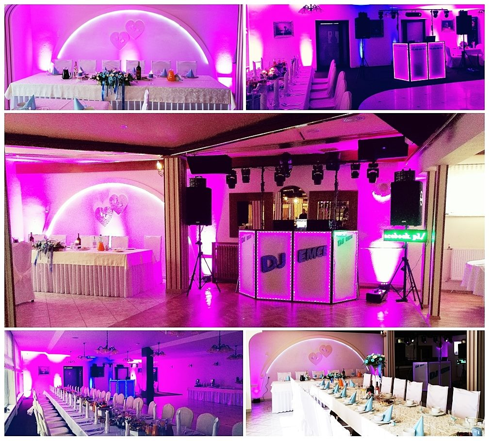 Dekoracja LED sali bankietowej - Wesele,Poprawiny,Urodziny,Imprezy
